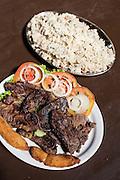 Fortaleza_CE, Brasil.<br /> <br /> Carne de Sol. Macaxeira e Baiao de Dois em Fortaleza, Ceara.<br /> <br /> Carne de Sol. Cassava and Baiao de Dois, a typical food in Fortaleza, Ceara.<br /> <br /> Foto: RODRIGO LIMA / NITRO