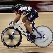 Tennille Falappi, Australia, in action during the Women's U19 Sprint at the 2012 Oceania WHK Track Cycling Championships, Invercargill, New Zealand. 21st November 2011. Photo Tim Clayton