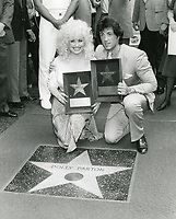 1984 Dolly Parton's Walk of Fame ceremony with Sylvester Stallone