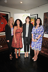 Left to right, GABY ROSLIN,  JO MANUEL - founder of The Special Yoga Centre, SAMANTHA CAMERON and KIRSTIE ALLSOPP and at The Special Yoga Centre's annual art auction held at the 20th Century Theatre, 291 Westbourne Grove, London W11 on 16th May 2011.