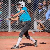 Navajo Prep Eagle Taina Sandoval (4) knock the ball away from Shiprock Chieftain catcher Alisha Wilson (3) Saturday at the Gallup Sports Complex.