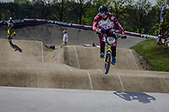 #127 (TREIMANIS Edzus) LAT at the 2016 UCI BMX Supercross World Cup in Papendal, The Netherlands.