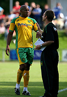 Photo: Maarten Straetemans.<br /> AGOVV Apeldoorn v Norwich City. Pre Season Friendly. 21/07/2007.<br /> John Ostemebor with manager Peter Grant