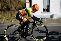 Final lap for Anisha Vekemans at Le Samyn des Dames 2018 - a 103 km road race on February 27, 2018, from Quaregnon to Dour, Belgium. (Photo by Sean Robinson/Velofocus.com)