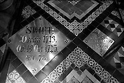 Plaque marking the burial site of Jonathan Swift, St. Patrick's Cathedral