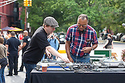 Todd Abramson & Gaylord Fields at Maxwell's Block Party