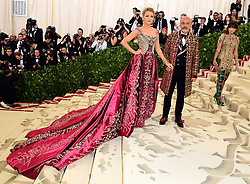 Blake Lively and Christian Louboutin attending the Metropolitan Museum of Art Costume Institute Benefit Gala 2018 in New York, USA.