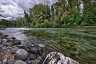 USA, Washington, Snoqualmie Nationall Forest. Cle Elum River.