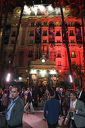 Opening ceremony of the MIPCOM in Cannes - Marche international des contenus audiovisuels du 16-19 Octobre 2017, Palais des Festivals, Cannes, France.<br />Exhibition MIPCOM (International Market of Communications Programmes) at Palais des Festivals et des Congres, Cannes (Photo by Lionel Urman/Sipa USA)