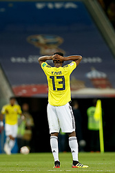 July 3, 2018 - Moscou, Rússia - MOSCOU, MO - 03.07.2018: COLOMBIA VS ENGLAND - Yerry Mina of Colombia during match between Colombia and England valid for the eighth finals of the 2018 World Cup finals, held at the Otkrytie Arena (Spartak Arena) in Moscow, Russia. (Credit Image: © Marcelo Machado De Melo/Fotoarena via ZUMA Press)