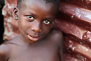Portrait of a girl in the Clara Town slum of Monrovia, Montserrado county, Liberia on Thursday April 5, 2012.