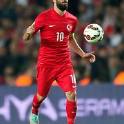 Turkey's Arda Turan during their UEFA Euro 2016 qualification Group A soccer match Turkey betwen Czech Republic at Sukru Saracoglu stadium in Istanbul October 10, 2014. Photo by Aykut AKICI/TURKPIX
