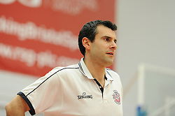 Bristol Flyers head coach, Andreas Kapoulas - Photo mandatory by-line: Dougie Allward/JMP - Mobile: 07966 386802 - 13/02/2015 - SPORT - Basketball - Bristol - SGS Wise Campus - Bristol Flyers v Surrey United - British Basketball League