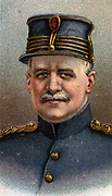 General Felix Maximilien Eugene Wielemans (1863-1917) Chief of Staff of the Belgian Army during the First World War. Chromolithograph.