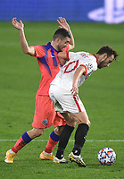 SEVILLE, SPAIN - DECEMBER 02: Ivan Rakitic of FC Sevilla and Mateo Kovacic of Chelsea FC during the UEFA Champions League Group E stage match between FC Sevilla and Chelsea FC at Estadio Ramon Sanchez-Pizjuan on December 2, 2020 in Seville, Spain. (Photo by Juan Jose Ubeda/MB Media)