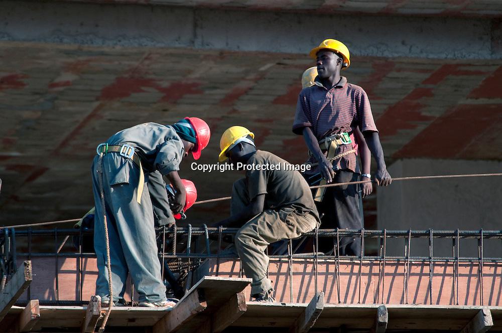 New contruction in the Rwandan capital of Kigali.   In 2008 the Rwandan economy registered a 11.2 per cent grow rate.