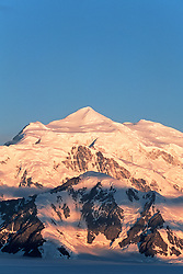 View of Mount Logan in the St. Elias Icefields, Kluane National Park, Yukon