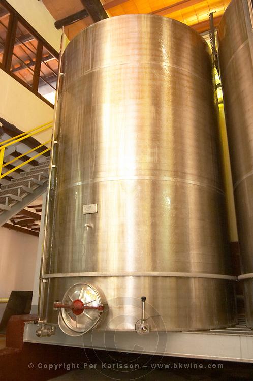 Fermentation tanks. Scala Dei, Priorato, Catalonia, Spain