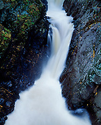 Ausable River cascading over High Falls, High Falls Gorge within Adirondack Park, New York.