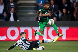 (L-R) Reuven Niemeijer of Heracles Almelo, Jean Paul Boetius of Feyenoord during the Dutch Eredivisie match between Heracles Almelo and Feyenoord Rotterdam at Polman stadium on September 09, 2017 in Almelo, The Netherlands