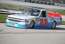 November 1, 2018 - Fort Worth, TX, U.S. - FORT WORTH, TX - NOVEMBER 01: NASCAR Camping World Truck Series driver Tanner Thorson (20) drives down pit road during practice for the NASCAR Camping World Truck Series JAG Metals 350 on November 1, 2018 at Texas Motor Speedway in Fort Worth, TX. (Photo by George Walker/Icon Sportswire) (Credit Image: © George Walker/Icon SMI via ZUMA Press)