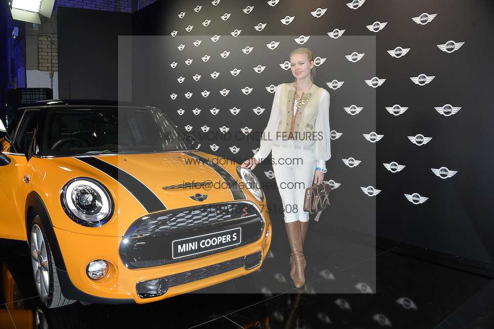 Monday 18th November 2013 saw a host of London hipsters, social faces and celebrities, gather together for the much-anticipated World Premiere of the brand new MINI.<br /> Attendees were among the very first in the world to see and experience the new MINI, exclusively revealed to guests during the party. Taking place in the iconic London venue of the Old Sorting Office, 21-31 New Oxford Street, London guests enjoyed a DJ set from Little Dragon, before enjoying an exciting live performance from British band Fenech-Soler.<br /> Picture Shows:-KATIA ELIZAROVA