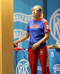 05.09.2015, Olympia Schiessanlage Hochbrueck, Muenchen, GER, ISSF World Cup 2015, Gewehr, Pistole, Damen, 10 Meter Luftpistole, im Bild Bobana Velickovic (SRB) // during the women's 10M air Pistol competition of the 2015 ISSF World Cup at the Olympia Schiessanlage Hochbrueck in Muenchen, Germany on 2015/09/05. EXPA Pictures © 2015, PhotoCredit: EXPA/ Eibner-Pressefoto/ Wuest<br /> <br /> *****ATTENTION - OUT of GER*****