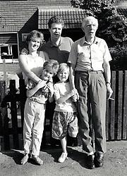 Three generations of family, Nottingham UK 1991