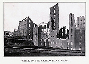WRECK OF THE GALLEGO FLOUR MILLS from the book ' The Civil war through the camera ' hundreds of vivid photographs actually taken in Civil war times, sixteen reproductions in color of famous war paintings. The new text history by Henry W. Elson. A. complete illustrated history of the Civil war