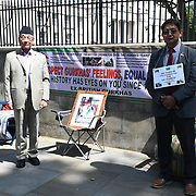 Gurkhas on hunger strike 24 hours in front of Downing Street, London, U.K
