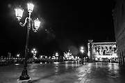 Midnight in Piazza San Marco (St. Mark's Square), Venice, Veneto, Italy