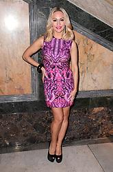 Kristina Rihanoff attending the Julien Macdonald Autumn/Winter 2017 London Fashion Week show at Goldsmiths' Hall, London. Photo credit should read: Doug Peters/ EMPICS Entertainment