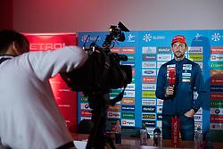 Jakov Fak during press conference of Slovenian Nordic Ski Cross country team before new season 2019/20, on Novamber 12, 2019, in Petrol, Ljubljana, Slovenia. Photo Grega Valancic / Sportida
