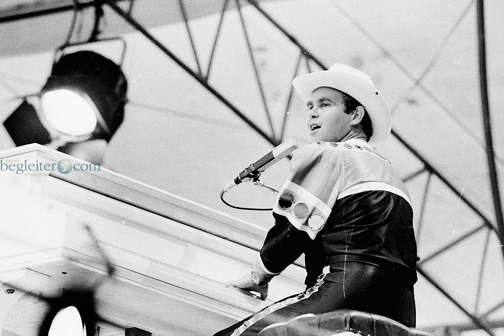 Sir Elton John performing at Central Park in 1980