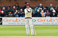 Tom Abell of Somerset during the third day of the Specsavers County Champ Div 1 match between Somerset County Cricket Club and Yorkshire County Cricket Club at the Cooper Associates County Ground, Taunton, United Kingdom on 29 April 2018. Picture by Graham Hunt.