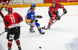 23# Urban Sodja of Jesenice during ice hockey match between HK SIJ Acroni Jesenice and Asiago Hockey in Round #3 of Alps Hockey League 2018/19 , on September 22, 2018 in Podmezakla hall , Jesenice, Slovenia. Photo by Urban Meglic / Sportida