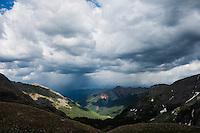 Summer thunderstorms from Ice Lakes Basin, San Juan mountains, Colorado, USA