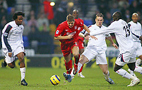 Photo: Paul Thomas.<br />Bolton Wanderers v Liverpool. The Barclays Premiership.<br />02/01/2006.<br />Liverpool's Steven Gerrard (C) on the attack.