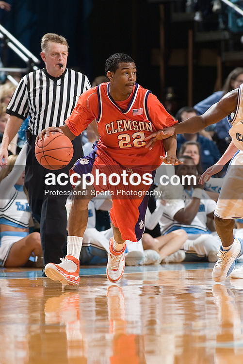 04 February 2006: Shawan Robinson (22) during a Clemson Tigers 61-76 loss to the North Carolina Tarheels, in the Dean Smith Center in Chapel Hill, NC.