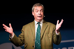 © Licensed to London News Pictures. 26/11/2019. Barnsley UK. Leader of the Brexit Party Nigel Farage is been speaking at Highstone Road Working Mens Club in Barnsley today with Andrew Stewart, the candidate for Doncaster North, Peter Wiltshire, the candidate for Wakefield, and Surjit Singh, who is standing in Doncaster Central.  Photo credit: Andrew McCaren/LNP