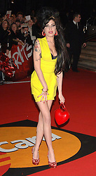 Amy Winehouse arrives for the Brit Awards 2007 at Earls Court Exhibition Centre in central London.