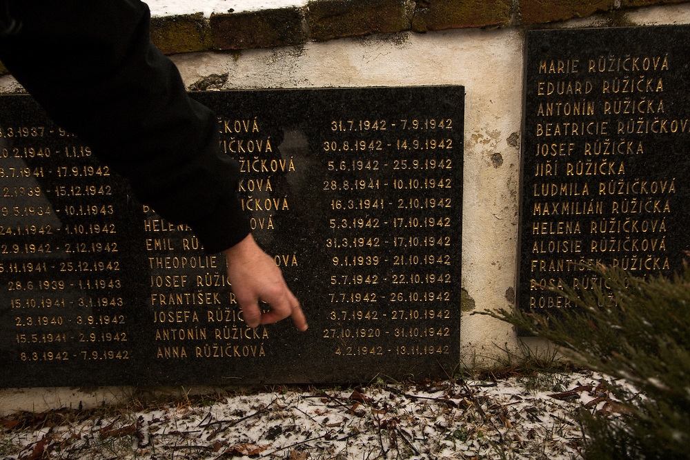 The Memorial of Roma who died at the Lety concentration camp who were buried in Mirovice around 1942. Markus Pape points to the dates as examples
