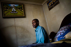 Johannes Khumalo has is a former miner and has contracted TB various times throughout his life.  He is currently so weak that he relies on home health care workers to help feed him, bathe him and get him to the doctor's office.  Once a miner has contracted TB the disease can lie in wait for more than 10 years until the patients immune system is weakened and the disease becomes active.  South African Gold miners are particularly vulnerable to contracting TB because of the small, poorly ventilated work conditions, high rates of TB and high rates of silicosis, a lung disease often found in miners that increases the chance of catching TB.