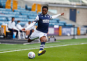 Mahlon Romeo of Millwall in action during EFL Sky Bet Championship between Millwall and Derby County at The Den Stadium, Saturday, June 20, 2020, in London, United Kingdom. (ESPA-Images/Image of Sport)