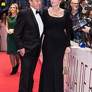 NLD/Amsterdam//20140330 - Filmpremiere Lucia de B. , Lucia de Berk en partner Peter