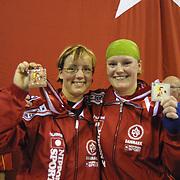 2. WOMEN'S WORLD BOXING CHAMPIONSHIPS.<br /> Denmark's Bettina KARSLEN (R) silver medal with Bettina Karlsen bronz medal(L). Dilek Sabanci Sport Hall Antalya/Turkey<br /> Photo by Aykut AKICI/TurkSporFoto