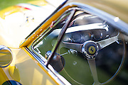 August 14-16, 2012 - Pebble Beach / Monterey Car Week. Classic Ferrari steering wheel