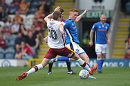 Callum Camps shoots  during the EFL Sky Bet League 1 match between Rochdale and Bradford City at Spotland, Rochdale, England on 21 April 2018. Picture by Daniel Youngs.