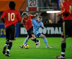 17-11-2009 VOETBAL: JONG ORANJE - JONG SPANJE: ROTTERDAM<br /> Nederland wint met 2-1 van Spanje / Erik Pieters en Diego Capel<br /> ©2009-WWW.FOTOHOOGENDOORN.NL
