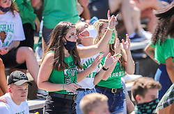 Sep 5, 2020; Huntington, West Virginia, USA; Marshall Thundering Herd students celebrate during the second quarter against the Eastern Kentucky Colonels at Joan C. Edwards Stadium. Mandatory Credit: Ben Queen-USA TODAY Sports